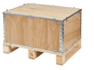 Caja de madera plegable