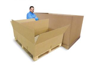 Cajas de cartón de gran volumen