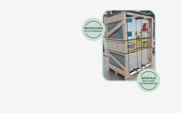 Embalaje especializado para el transporte de paneles solares y vidrio